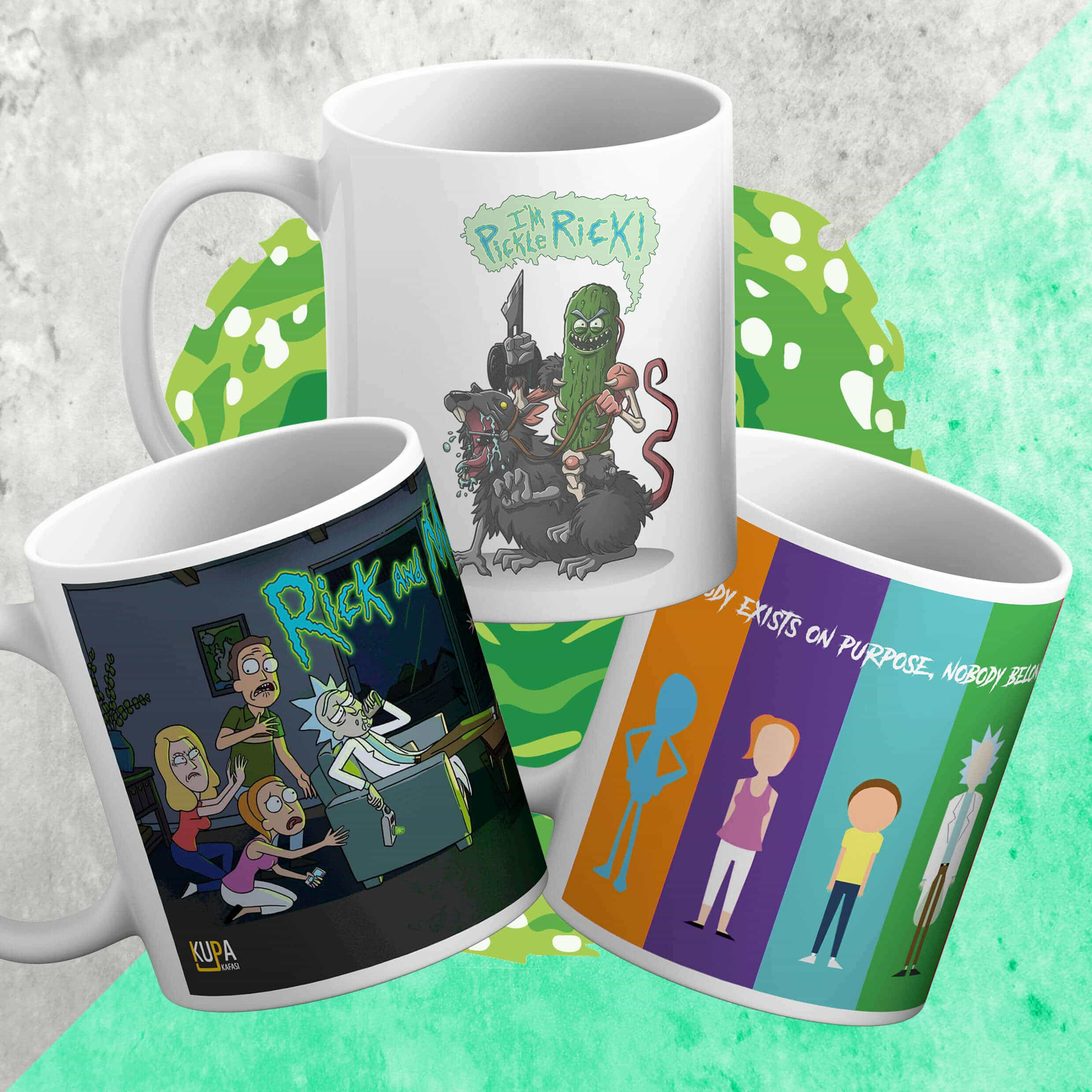 Rick and Morty 3'lü Set